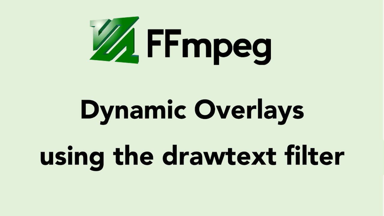 FFmpeg drawtext filter to Insert Dynamic Overlays, Scrolling Text, and Timestamps