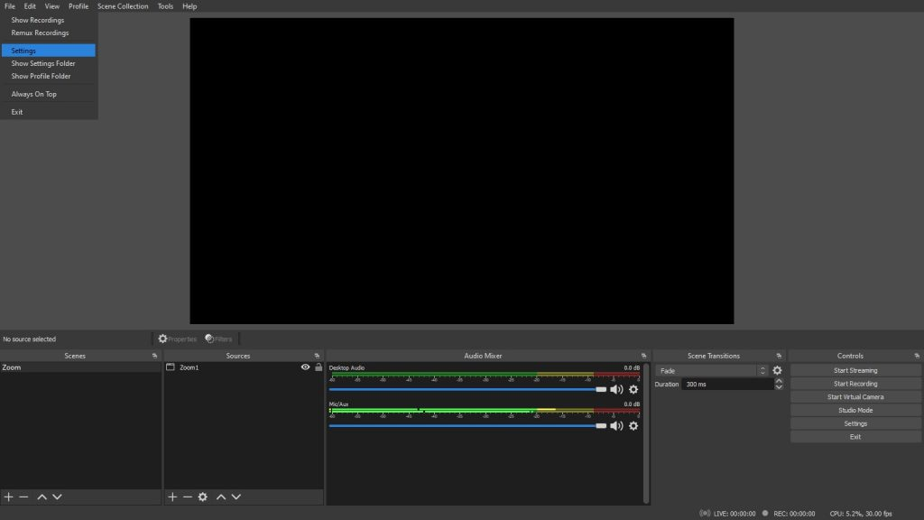 Livestreaming using OBS Studio to Twitch
