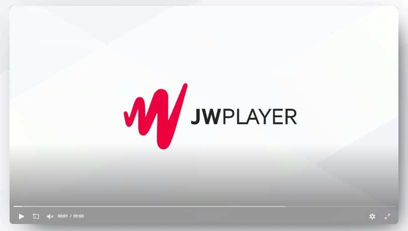 JW Player video player for HTML5