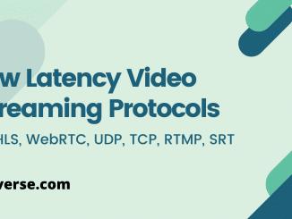 low latency streaming using webrtc, ll-hls, srt, rtmp, udp