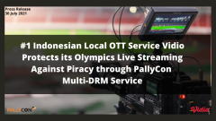 #1 Indonesian Local OTT service Vidio protects its Olympics live streaming against piracy through PallyCon multi-DRM service