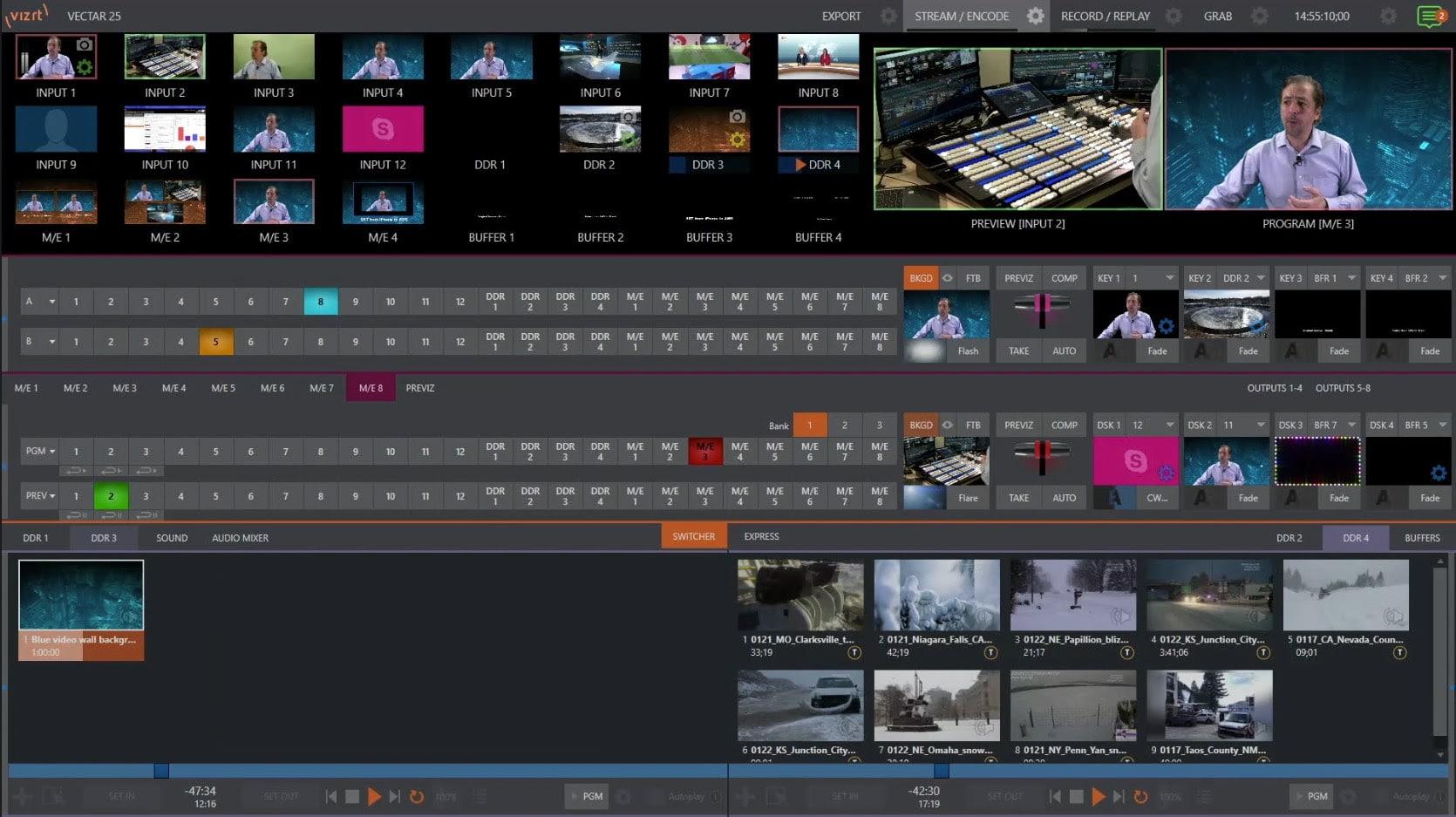 ASG has integrated Vizrt's Viz Vectar Plus into the Virtual Production Control Room.