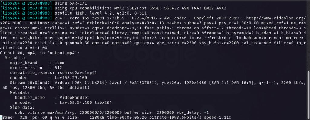 FFMpeg CBR Encoding