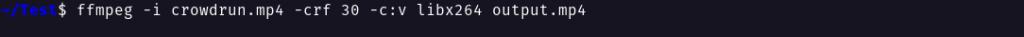FFMpeg CRF encoding