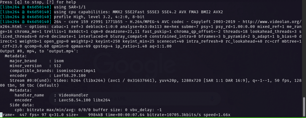 FFmpeg changing file resolution